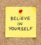 Believe in yourself reminder note